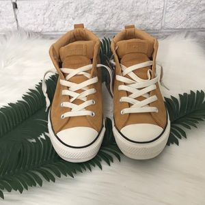03592d9a91 Converse Shoes | All Star Camel Suede Fat Tongue Mid Tops | Poshmark